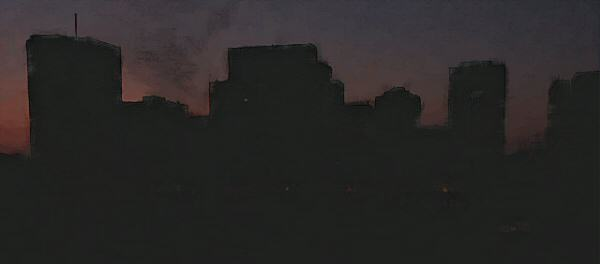 2. Image showing Toronto during a power blackout