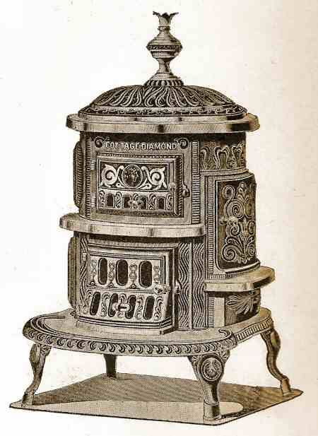 1. Image of a Cottage Diamond parlour stove