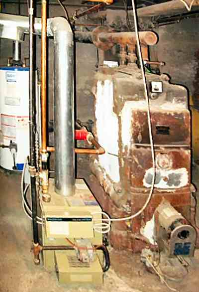 1. Image showing old and new boilers, side-by-side