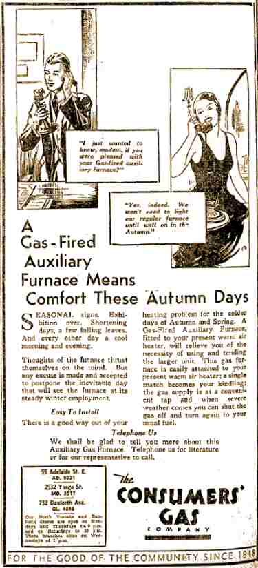 2. Image of an advertisement promoting natual gas