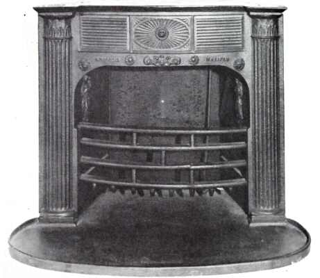 6. Franklin-type stove from 1825