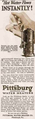 6. Advertisement for a hot water heater