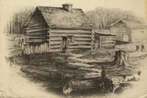 1. Sketch of a log cabin